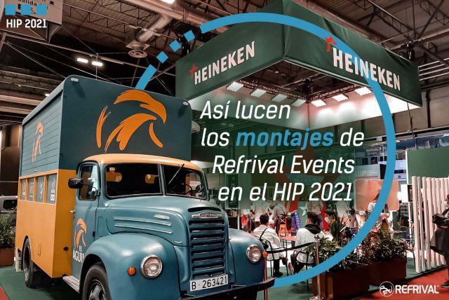 Así lucen los montajes de Refrival Events en el HIP 2021